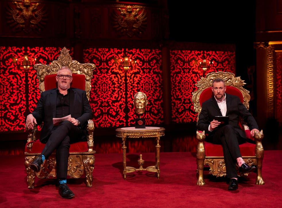 <p>Taskmaster Greg Davies with Alex Horne, the show's mastermind</p>