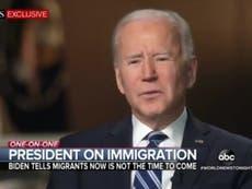 """""""No vengan"""": Biden dice a los migrantes que se mantengan alejados de la frontera entre Estados Unidos y México"""