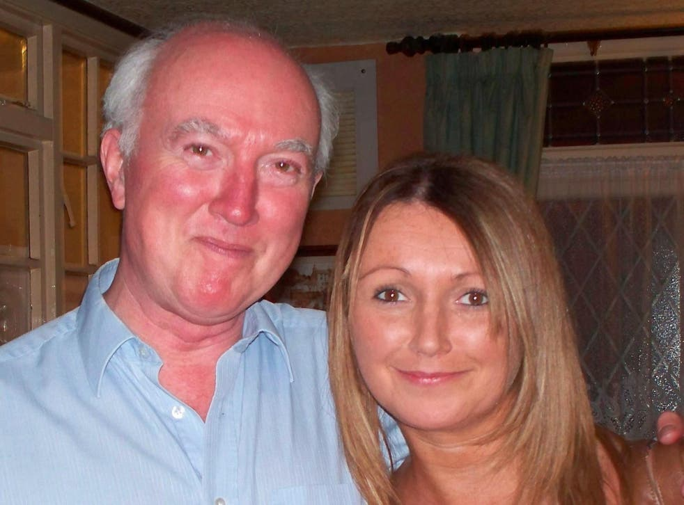 <p>Claudia Lawrence pictured with her father Peter Lawrence</p>