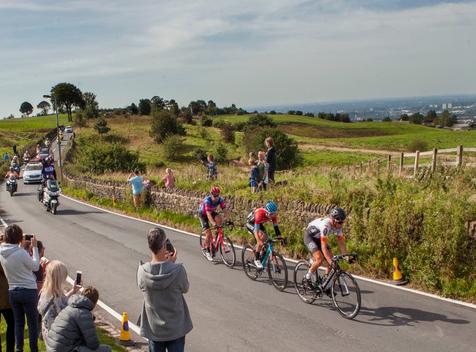 The Tour of Britain in Werneth Low Country Park