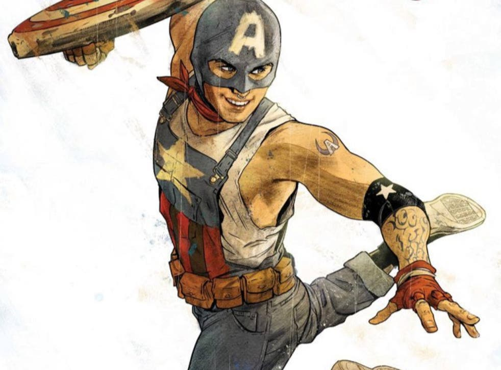 Aaron Fischer is the latest character to take on the Captain America shield