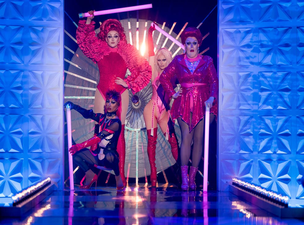 <p>The final four on last night's finale of RuPaul's Drag Race UK</p>