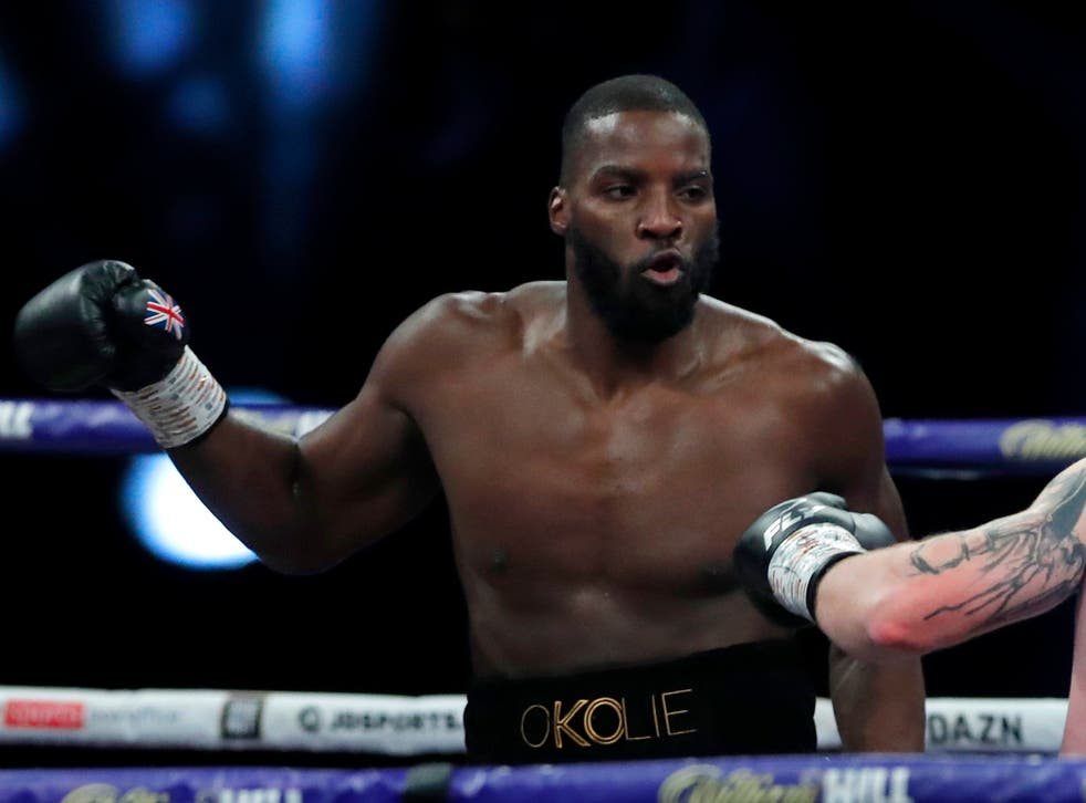<p>Lawrence Okolie challenges for the world title</p>