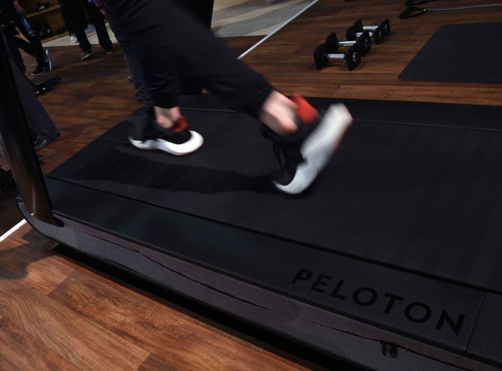 <p>A Peloton treadmill</p>