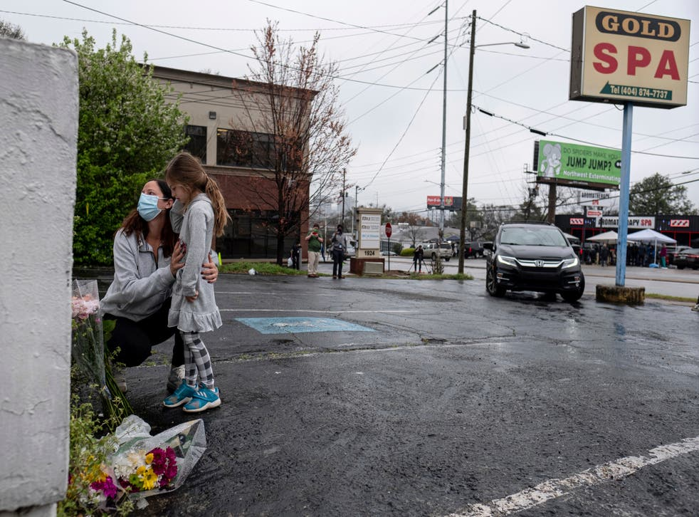 <p>Prosecutors say the accused Atlanta gunman targeted some of his victims, including those at Gold Spa, because they were of Asian descent</p>