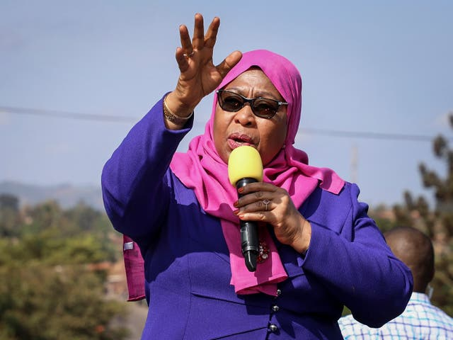 <p>Hassan is currently the only female political leader in Africa</p>