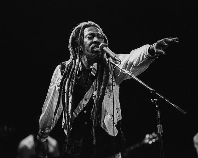 <p>Wailer performing in California in 1986</p>