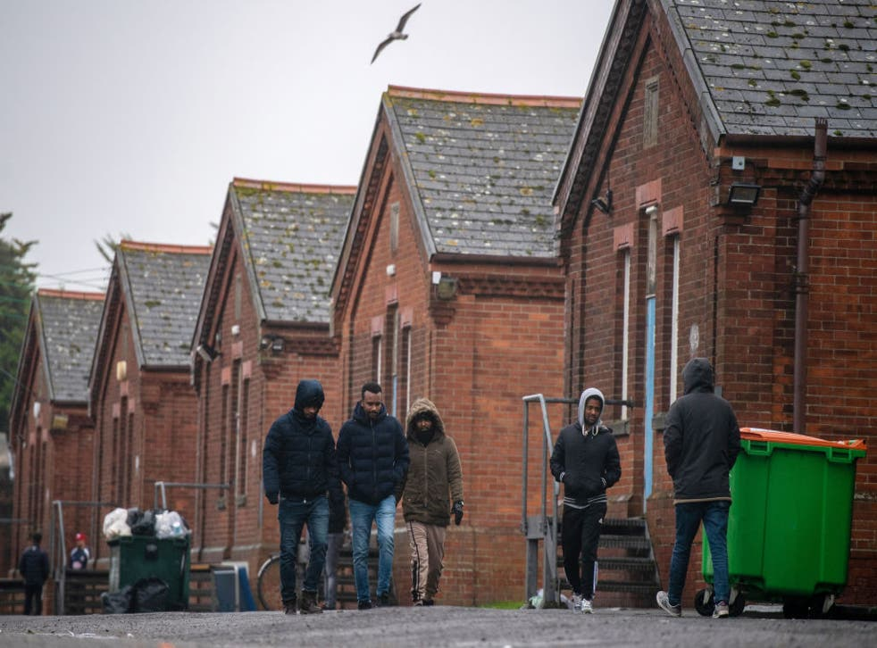 <p>Napier Barracks, in Kent, is currently housing 45 people but new residents are due to be moved there in the coming weeks</p>