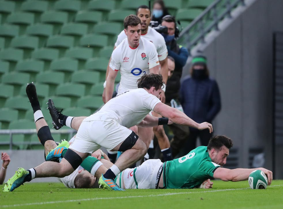 Jack Conan scored Ireland's second try of the afternoon