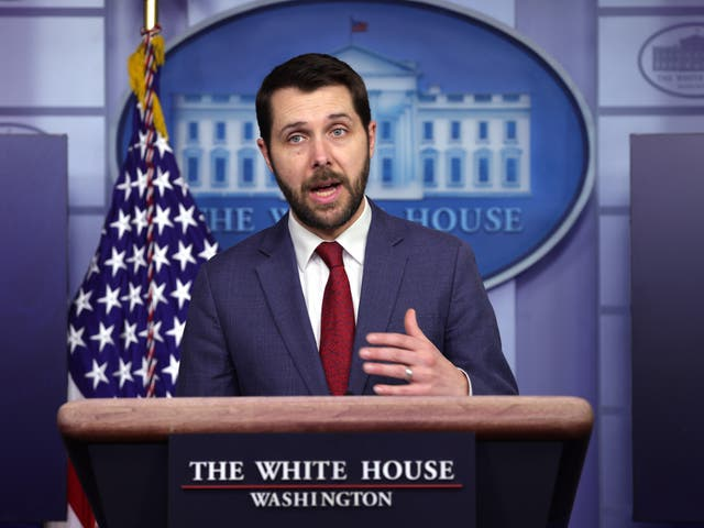 National Economic Council Director Brian Deese speaks during a White House news briefing on 22 January, 2021.