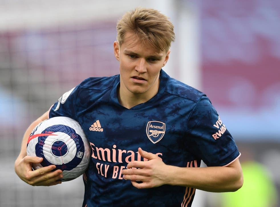 Arsenal's on-loan midfielder Martin Odegaard