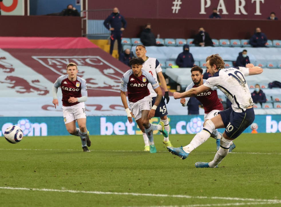 <p>Harry Kane doubled Tottenham's lead from the penalty spot</p>