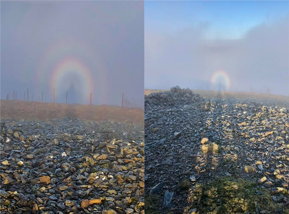 Liam Roberts spotted the phenomenon on Moel Eilio in North Wales