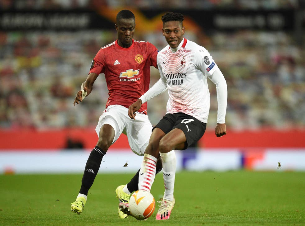 Eric Bailly in action against AC Milan at Old Trafford