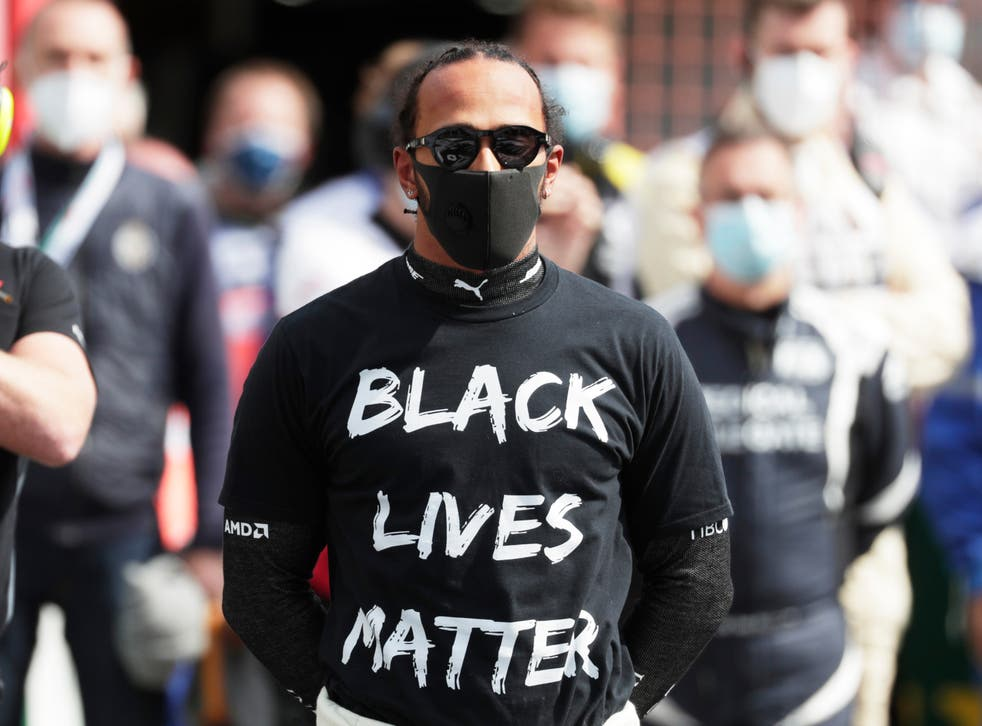 <p>Bernie Ecclestone has accused Lewis Hamilton of being used by Black Lives Matter</p>