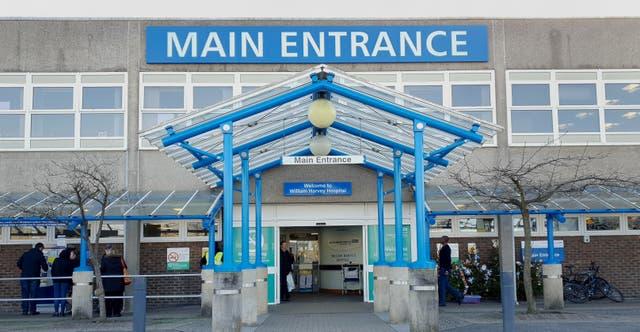 <p>The William Harvey Hospital, in Ashford, Kent</p>