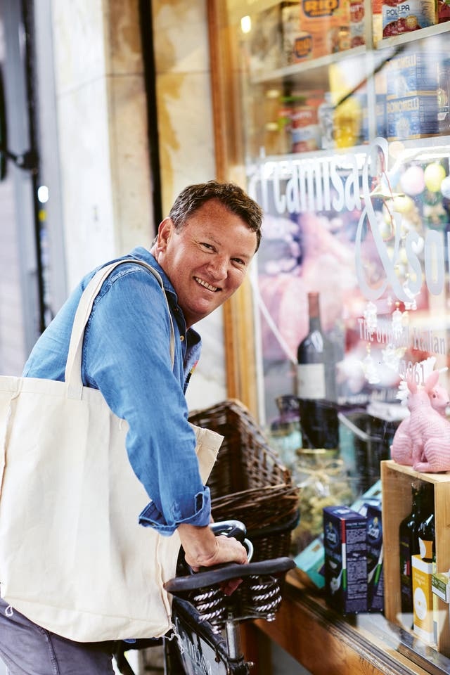 <p>Randall says he has a particular love for the Italian deli: 'I'm an obsessive shopper'</p>