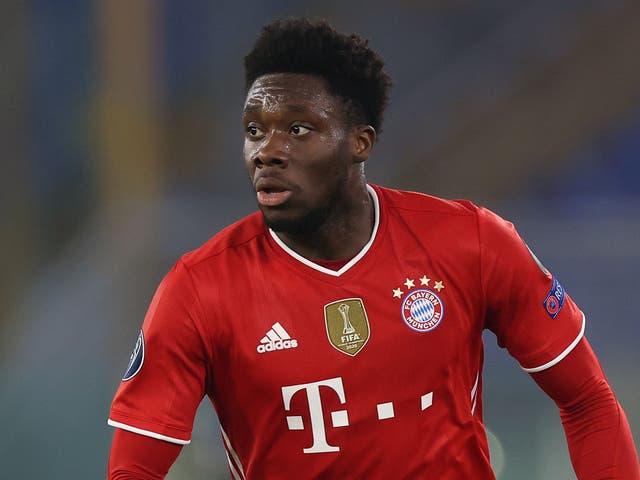 Bayern Munich defender Alphonso Davies