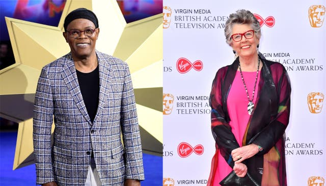 Composite of Samuel L Jackson and Prue Leith