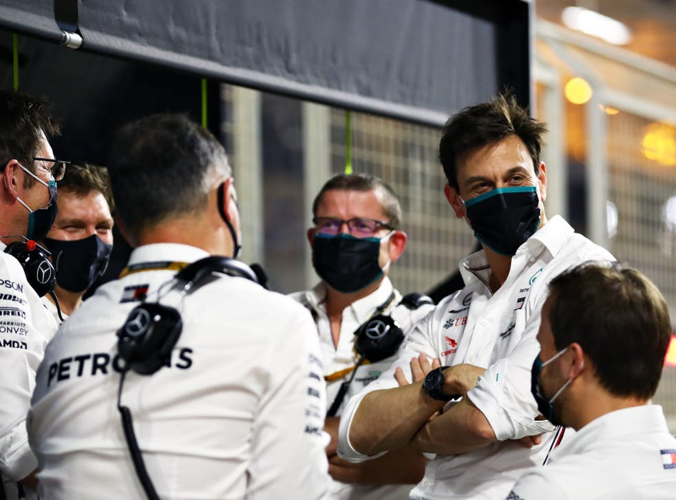 Mercedes boss Toto Wolff (second right)