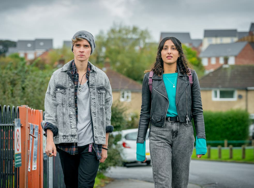 Joe Sugg (left) and Taj Atwal (right) in The Syndicate