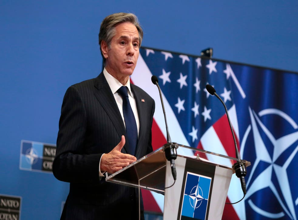 <p>US secretary of state Anthony Blinken, who pledged support to Ukraine</p>