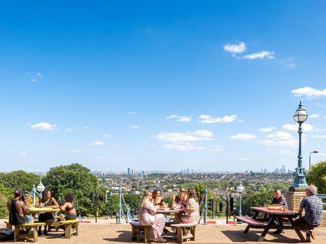 The Terrace Bar at London's Alexandra Palace