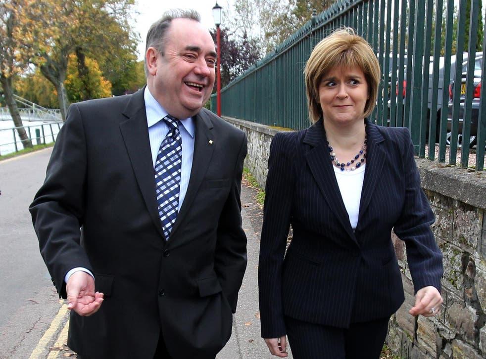 Then SNP leader Alex Salmond and deputy leader Nicola Sturgeon pictured in 2011