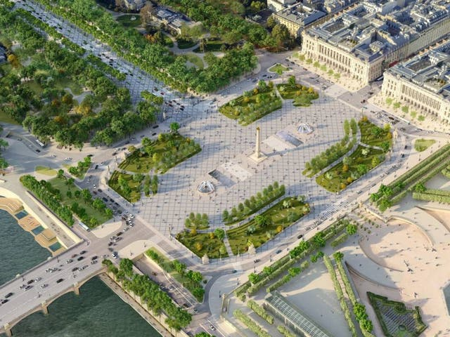 <p>Traffic is being limited on the Place de la Concorde</p>