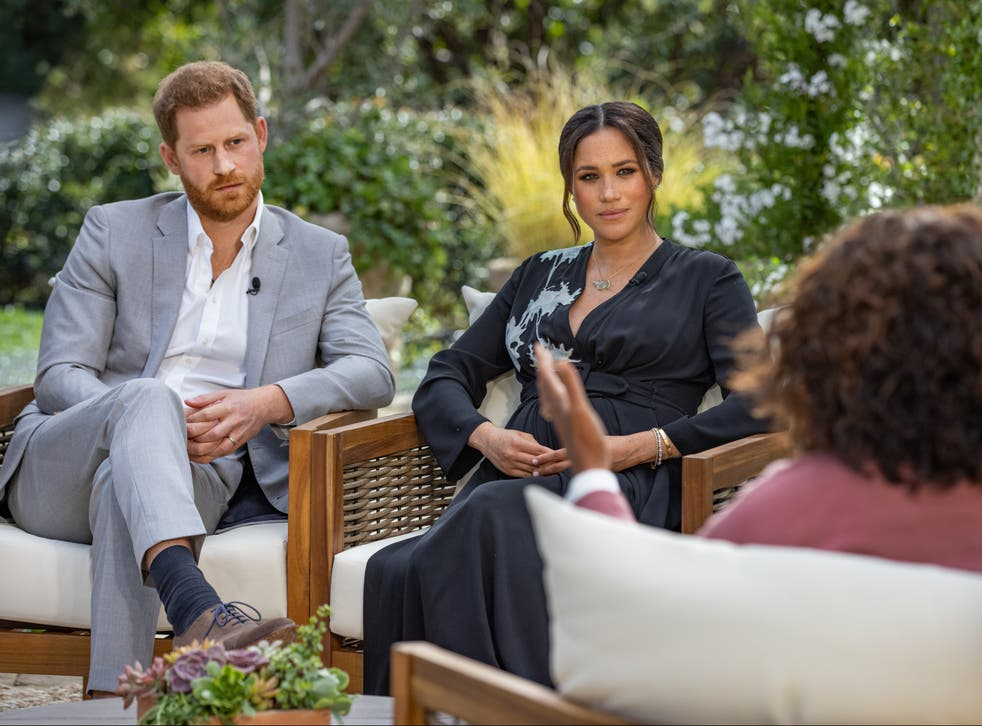 <p>Meghan Markle and Prince Harry's interview with Oprah Winfrey</p>