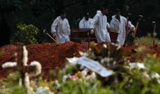 Brasil registra récord de muertes en un día por COVID-19