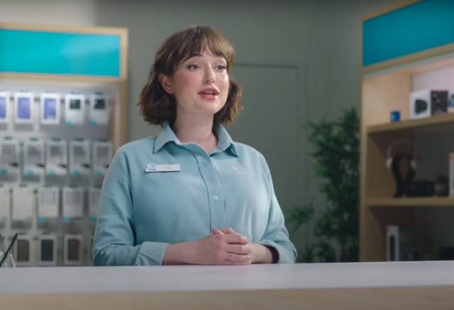 <p>Actress Milana Vayntrub, who has been the face of AT&T commercial for years, says she stood behind a desk in the commercial because of the unwanted comments she has been getting about her body </p>