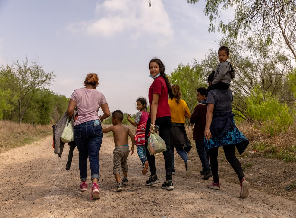 <p>Hundreds of asylum seekers have been arriving at the US border</p>