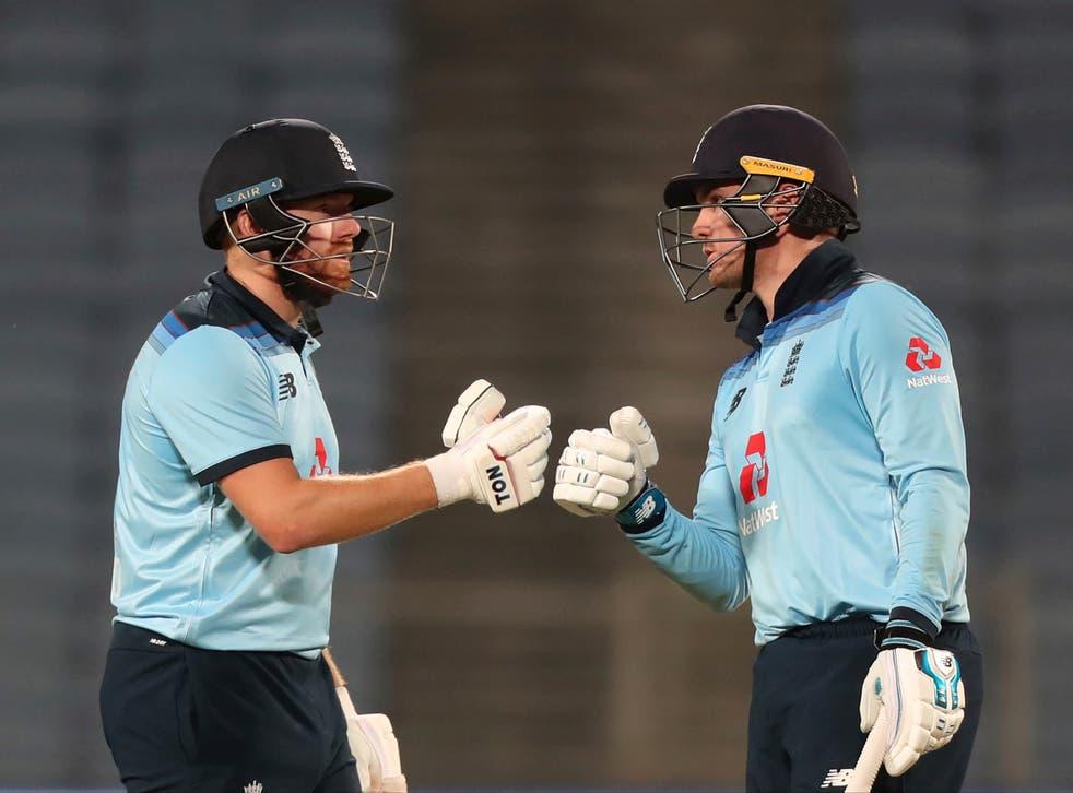 England batsmen Jonny Bairstow and Jason Roy