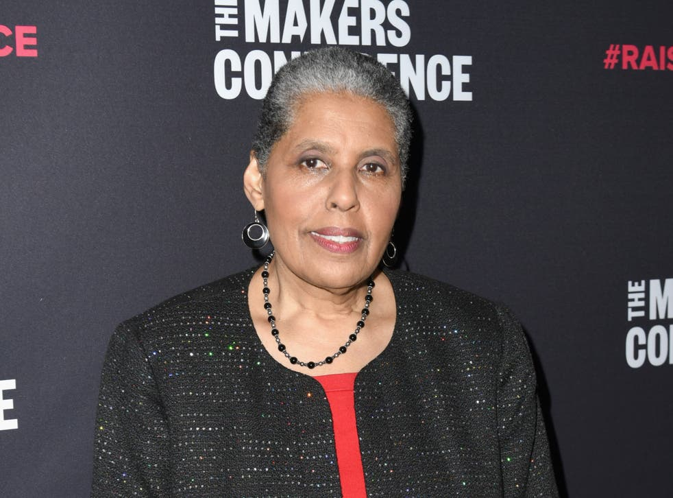 Scholar, author, and activist Barbara Smith at a conference on 6 February 2018 in Los Angeles, California