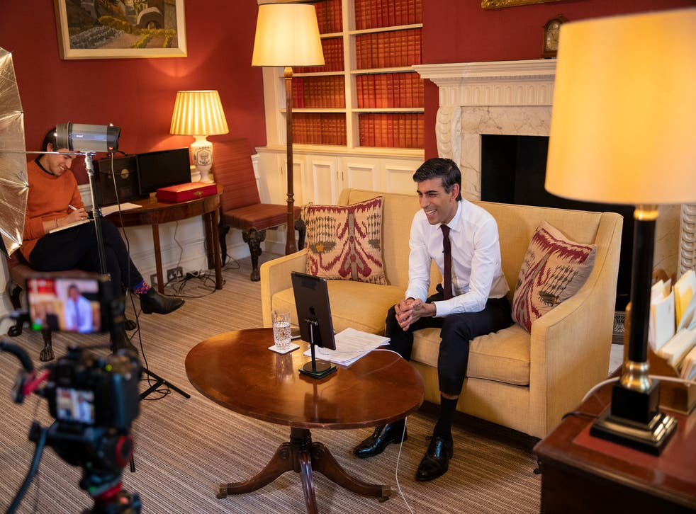 <p>The Treasury has launched a major personal branding and publicity campaign for the chancellor, including a recorded Zoom chat between Mr Sunak and the celebrity chef Gordon Ramsay</p>