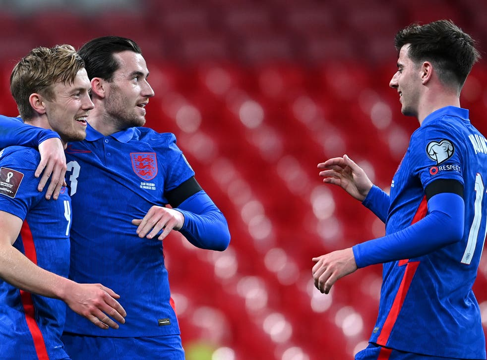 Mason Mount (right) and Ben Chilwell (centre) were standout performers