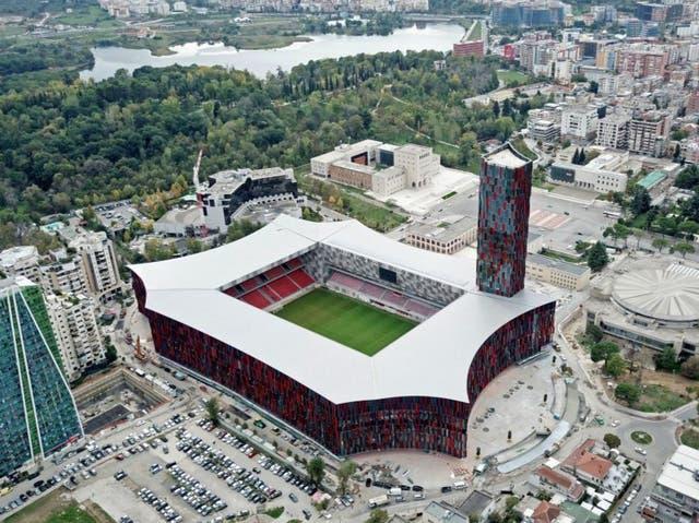 <p>View of the Air Albania Stadium</p>