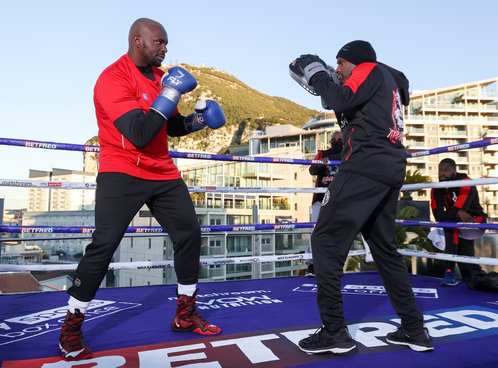 Dillian Whyte during his public workout