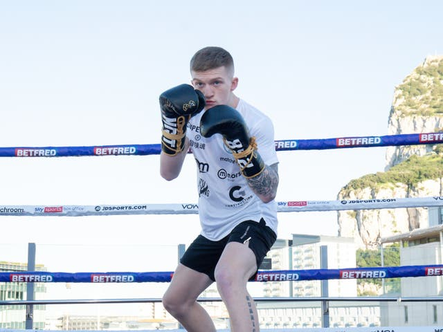 Campbell Hatton during his public workout