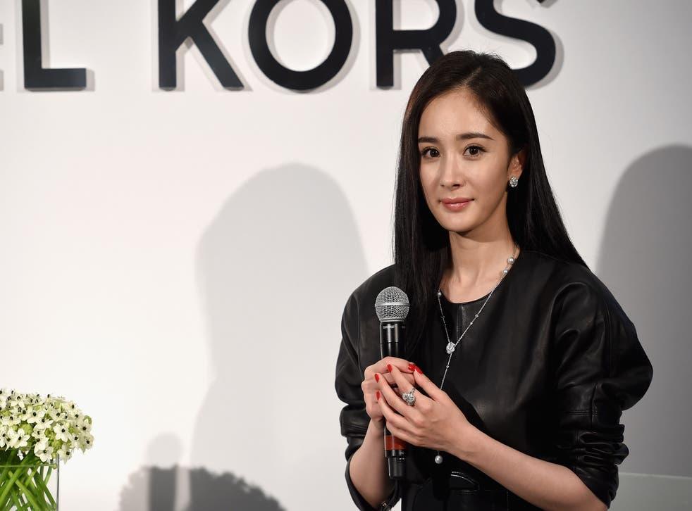<p>File image: Midland Chinese actress Yang Mi as Brand Ambassador for Michael Kors</p>