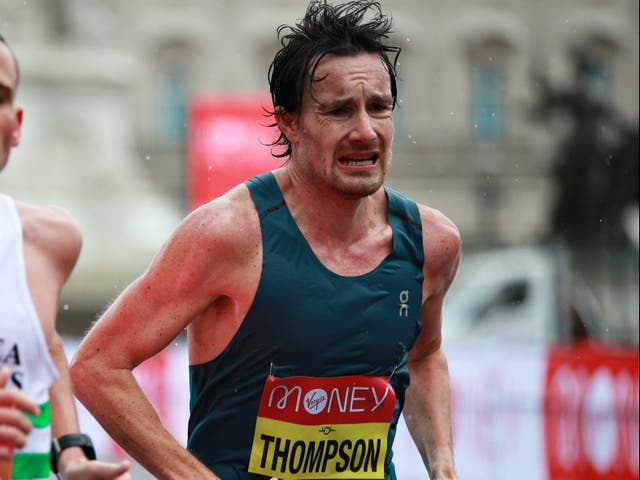 <p>Thompson broke his personal best time while also qualifying for the Olympics</p>