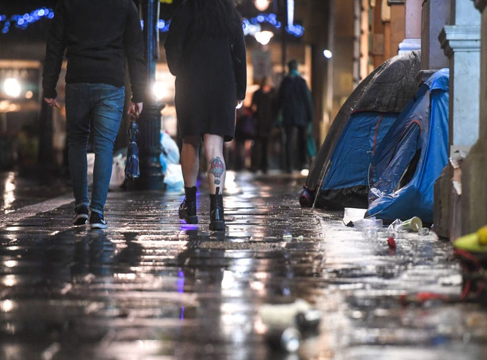 <p>The government is spending £750m to tackle  homelessness and rough sleeping</p>
