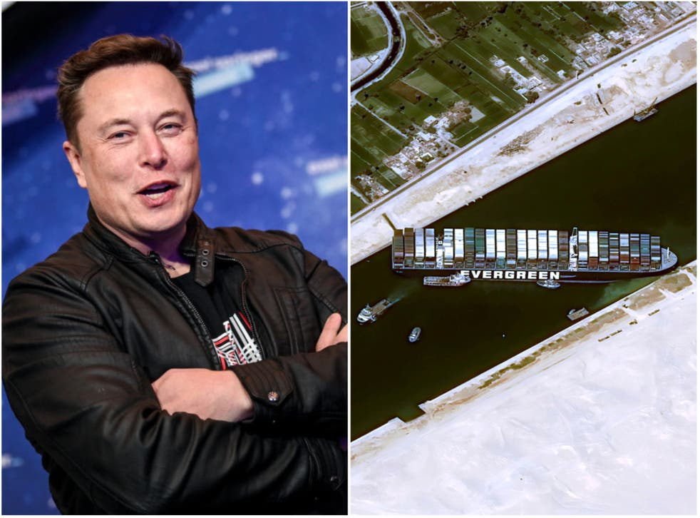 <p>Could Elon Musk be the man to free the Ever Given?</p>