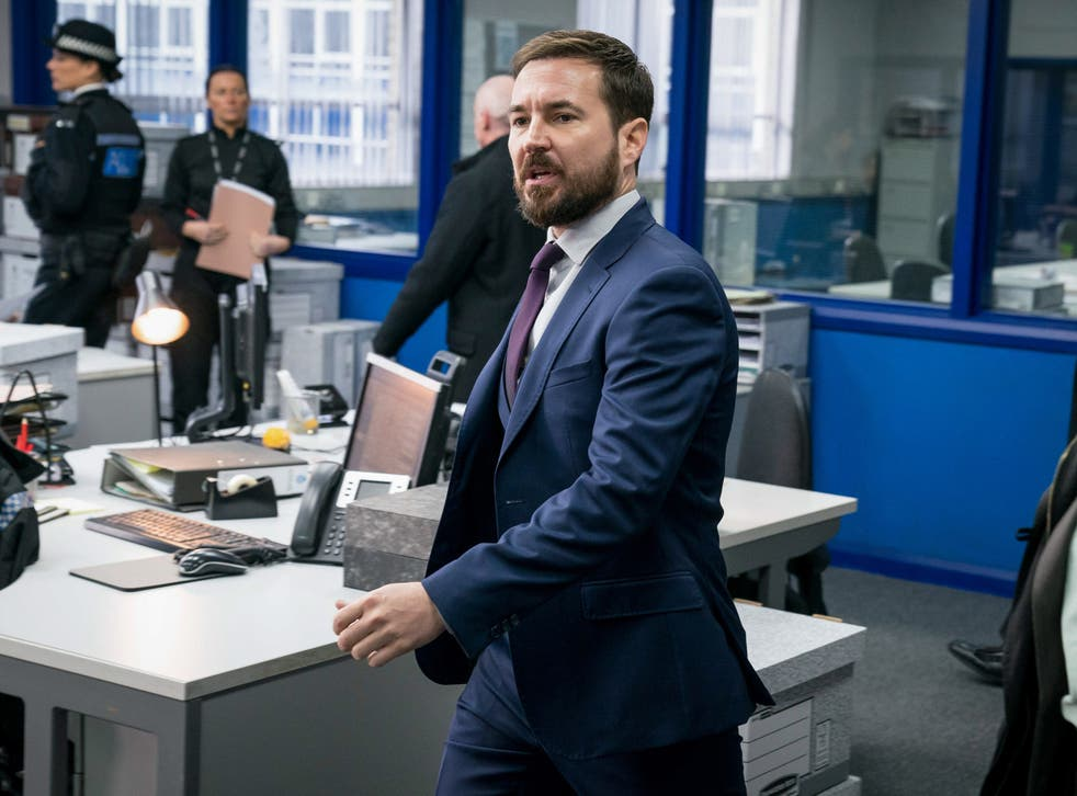 Martin Compston as Steve Arnott in the latest episode of Line of Duty