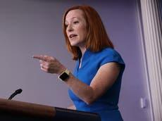 Jen Psaki, vocera de la Casa Blanca, responde a alegaciones de que Biden se niega a responder preguntas de Fox