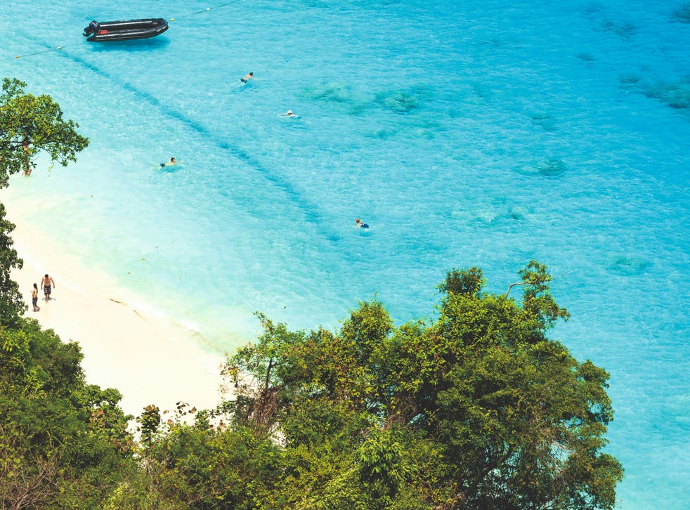 Welcome sight: a beach in Phuket