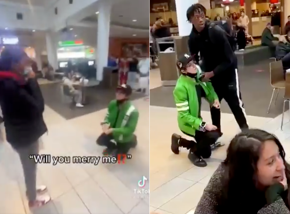 <p>Matt10 pranked his girlfriend by proposing to her in a shopping centre</p>
