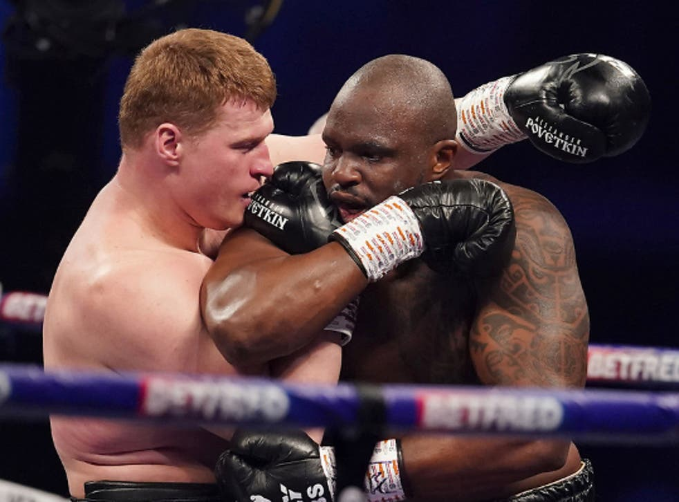 <p>Whyte knocks out Povetkin in the fourth round</p>
