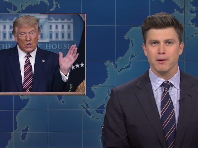 <p>Colin Jost skewered Trump on SNL</p>
